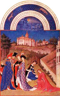 Medieval Illuminated Manuscript - The Riches Heures of Duke of Berry