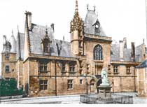Domestic Medieval Gothic Architecture-Jacques Coeur Palace In Bourges