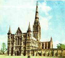 English Medieval Gothic-Salisbury Cathedral