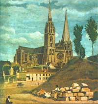 Camille Corot-Chartres Cathedral